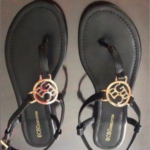 BCBG Sandals black size 9